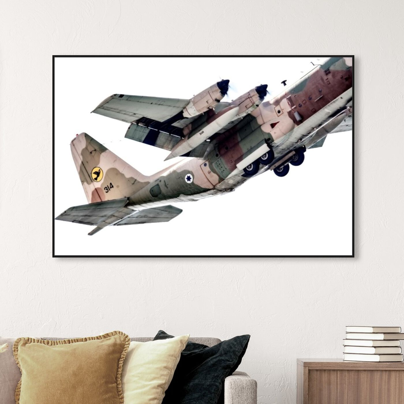 Hanging view of Power featuring transportation and airplanes art.