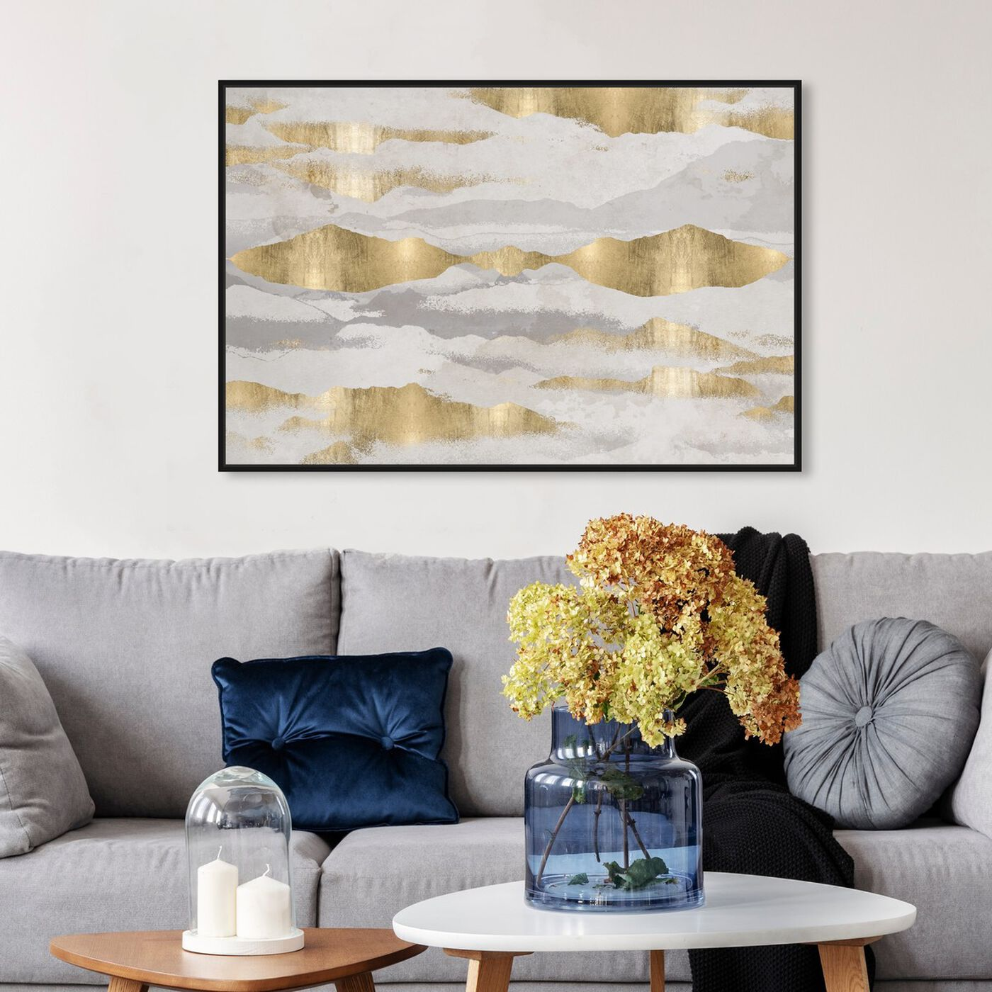 Hanging view of Mountains Of Life featuring abstract and textures art.