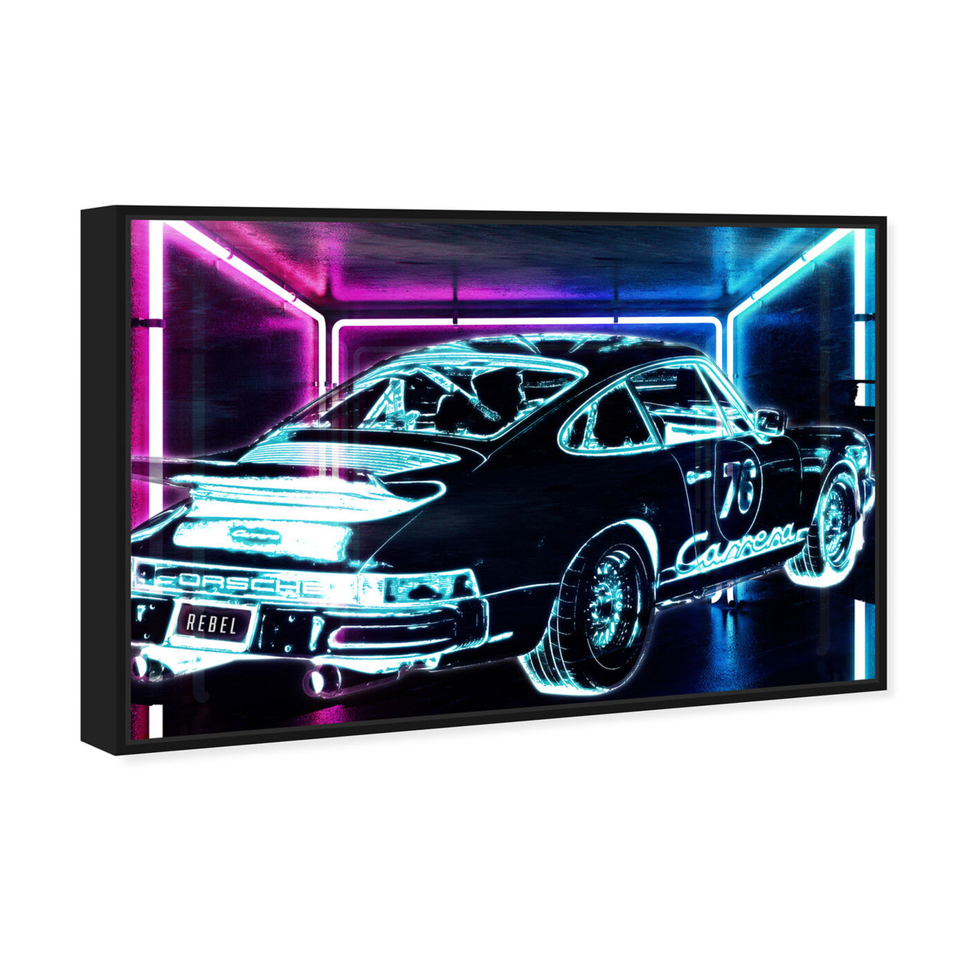 Angled view of CyberCar art.