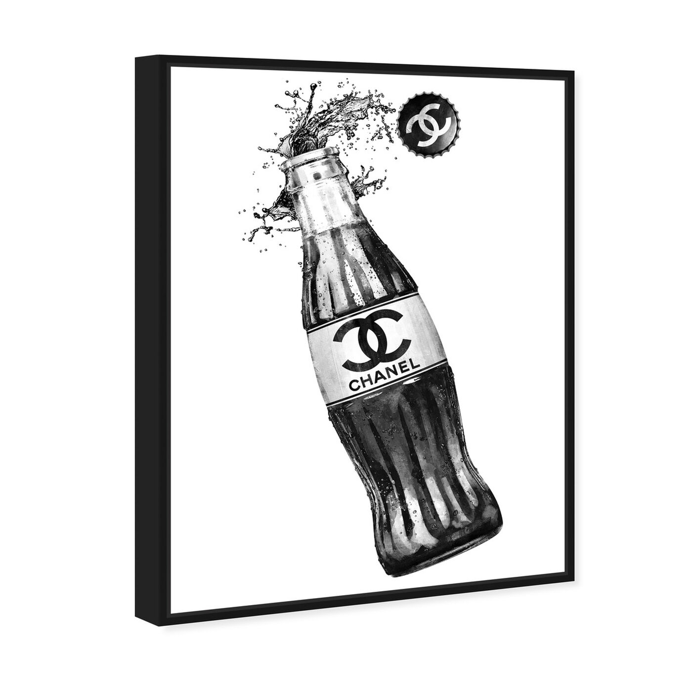 Angled view of Fashion Soda Bottle featuring drinks and spirits and soda art.