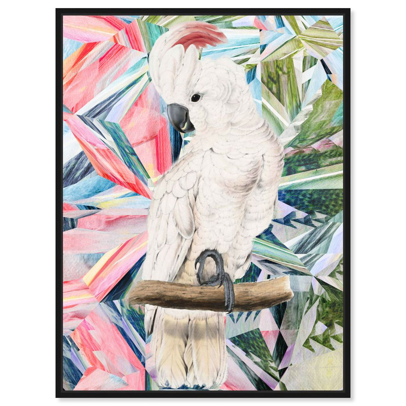Front view of Modern Cockatoo featuring animals and birds art.
