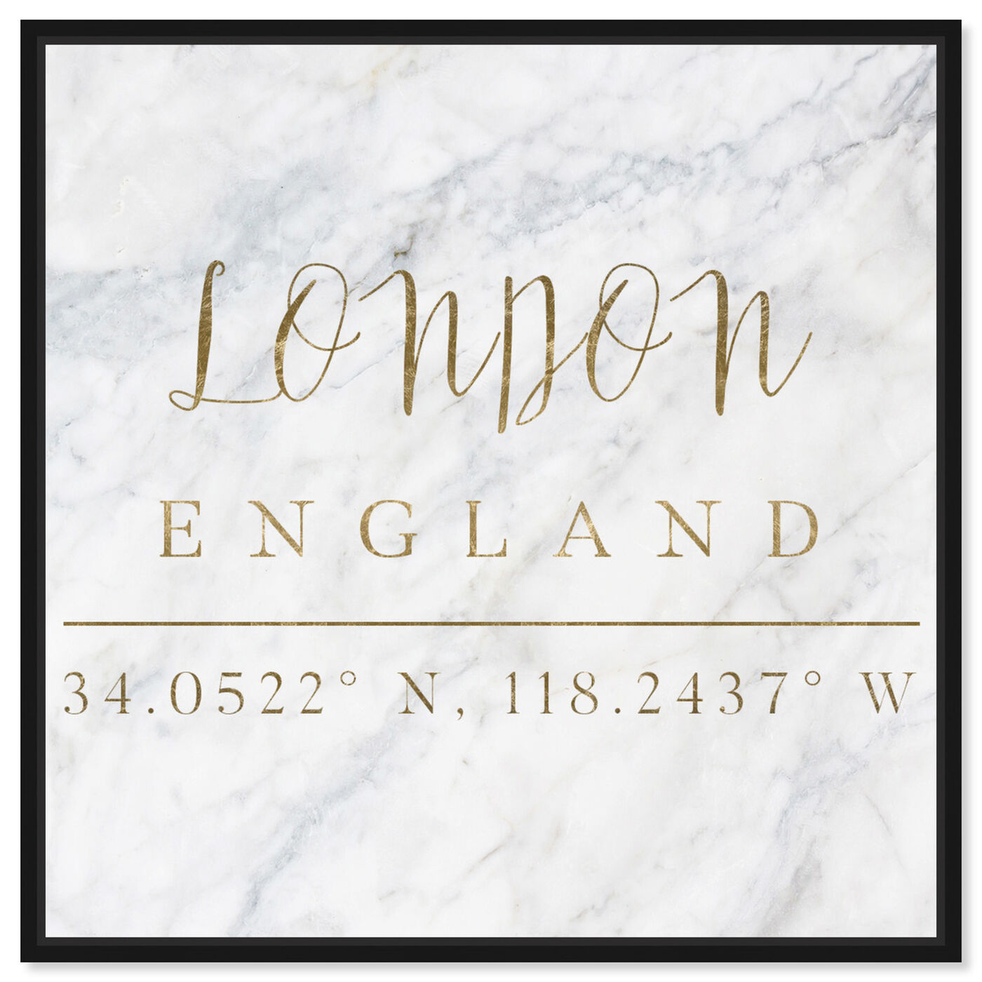 Front view of London Coordinates featuring cities and skylines and european cities art.