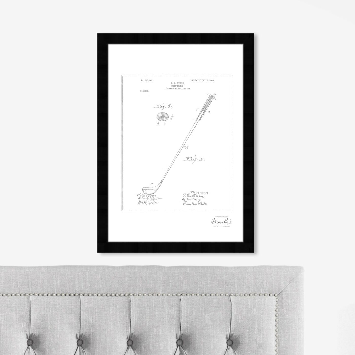 Hanging view of Golf Club 1903, Silver Foil featuring sports and teams and golf art.