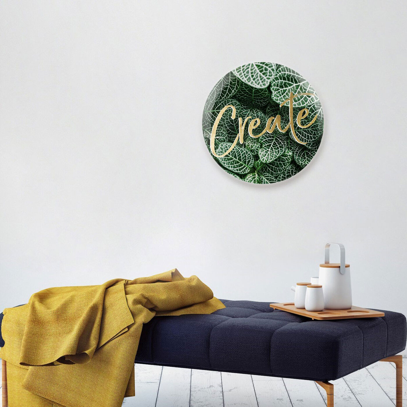 Hanging view of Create Jungle Circle featuring typography and quotes and motivational quotes and sayings art.