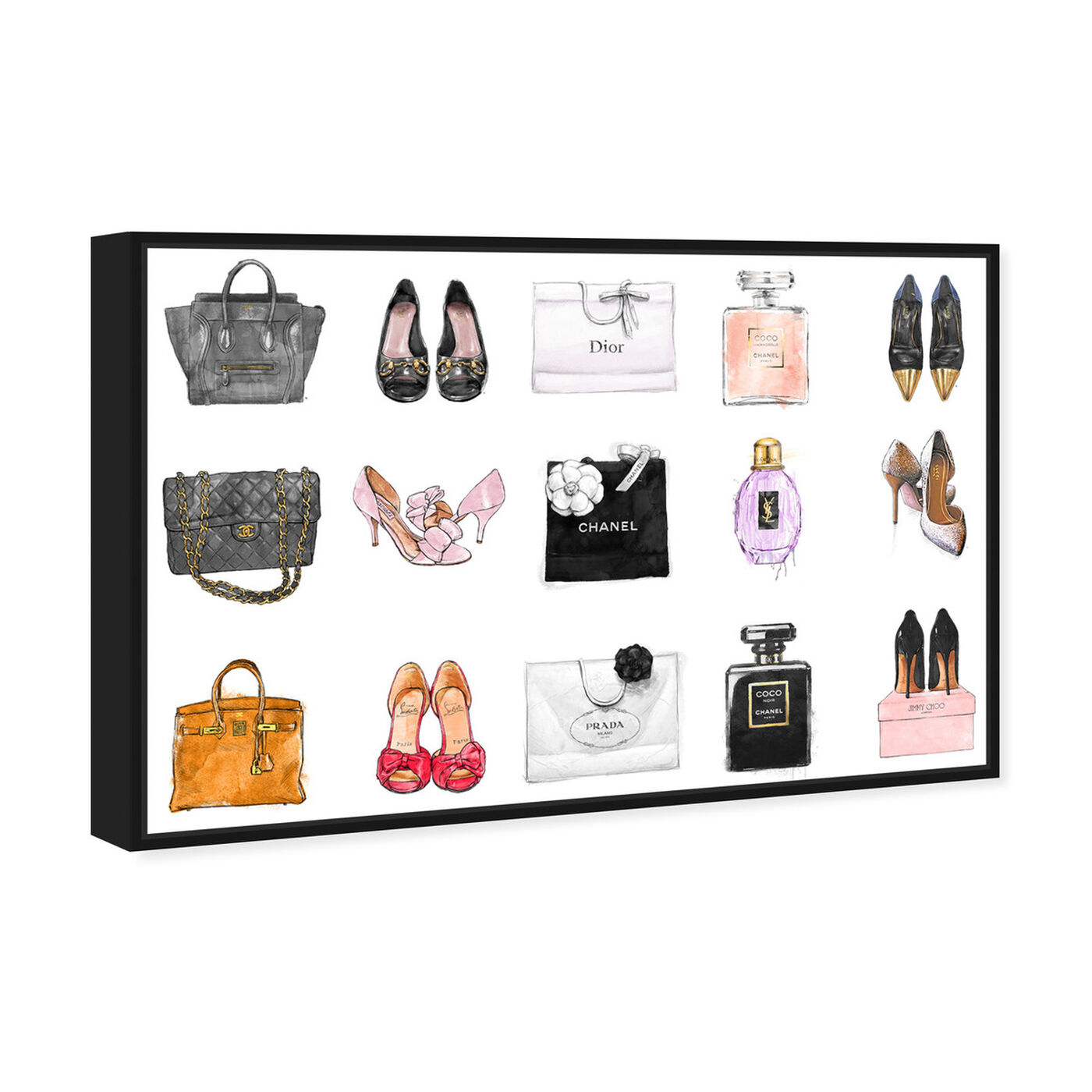 Angled view of Fashion Chart featuring fashion and glam and shoes art.