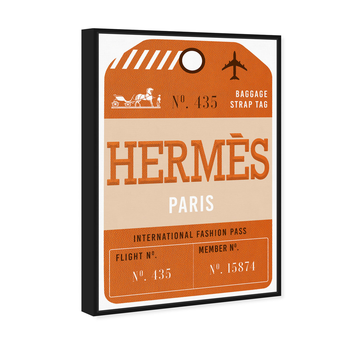 Angled view of Paris Fashion Luggage Tag featuring fashion and glam and lifestyle art.
