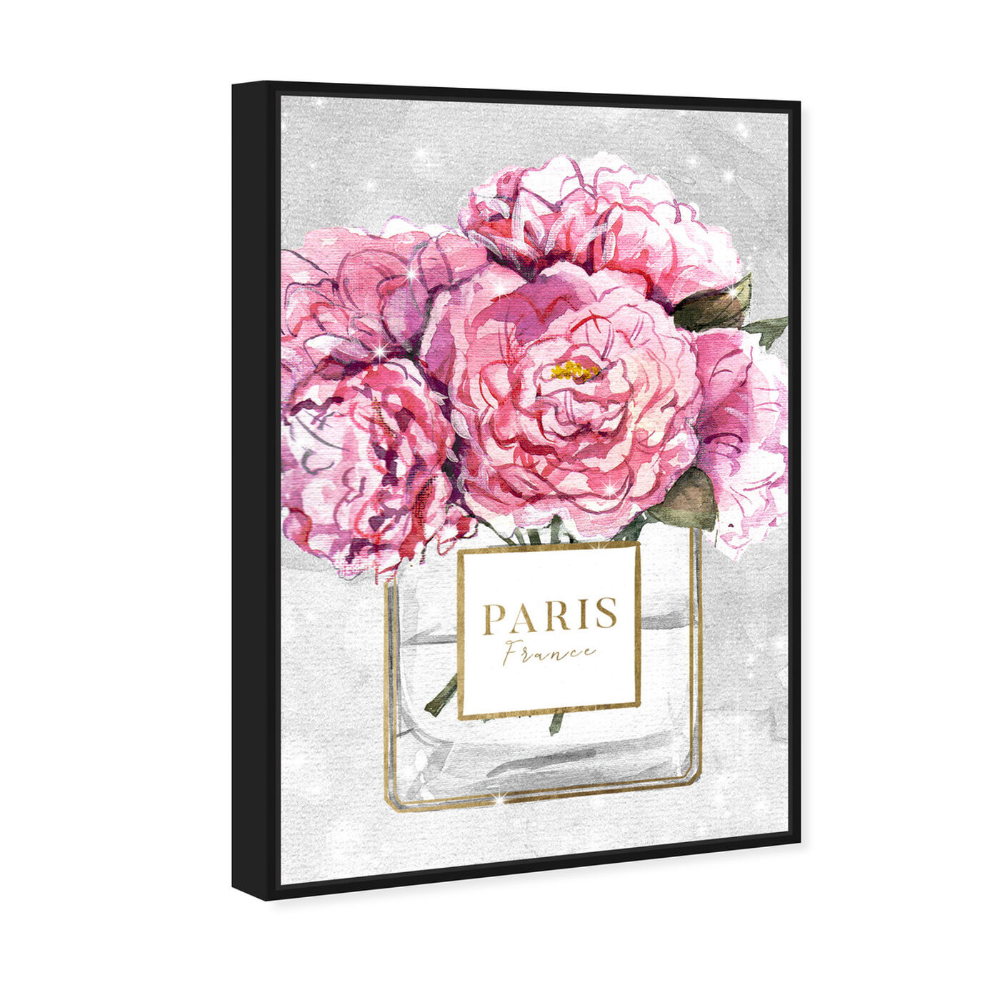 Angled view of Sparkling Floral Perfume featuring fashion and glam and perfumes art.