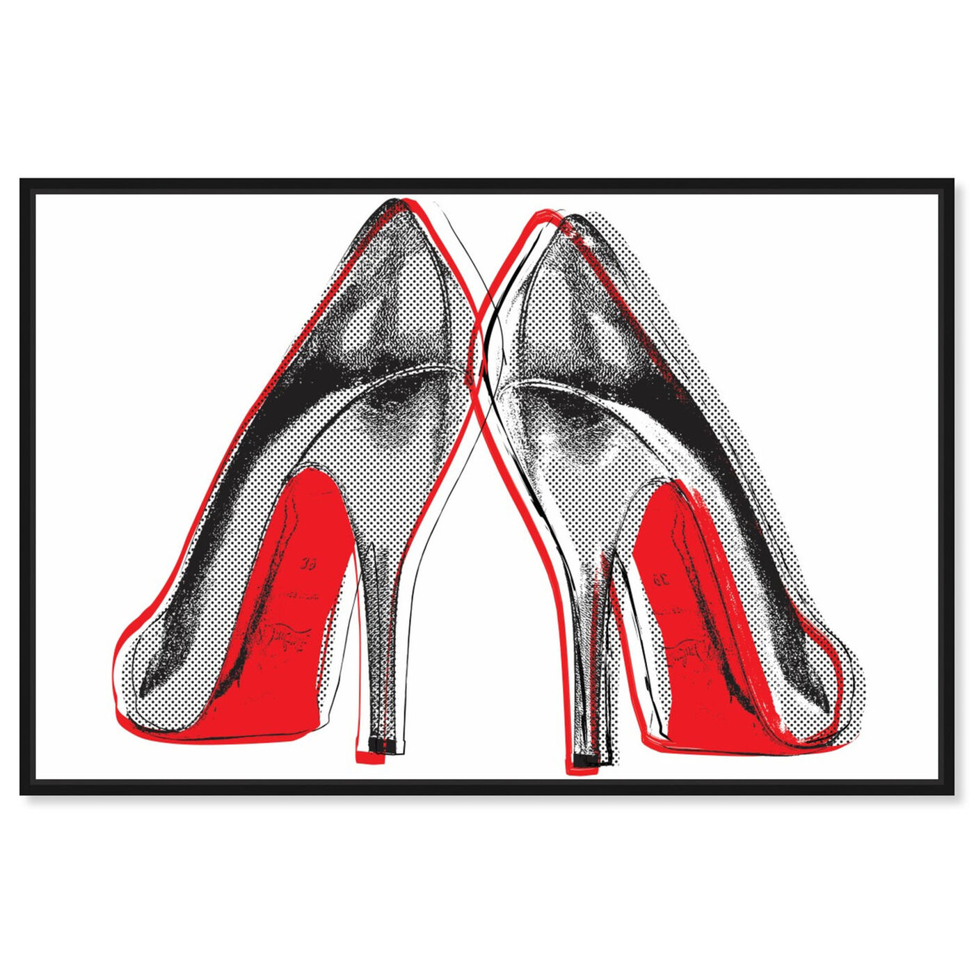 Front view of Fire In Your New Shoes featuring fashion and glam and shoes art.
