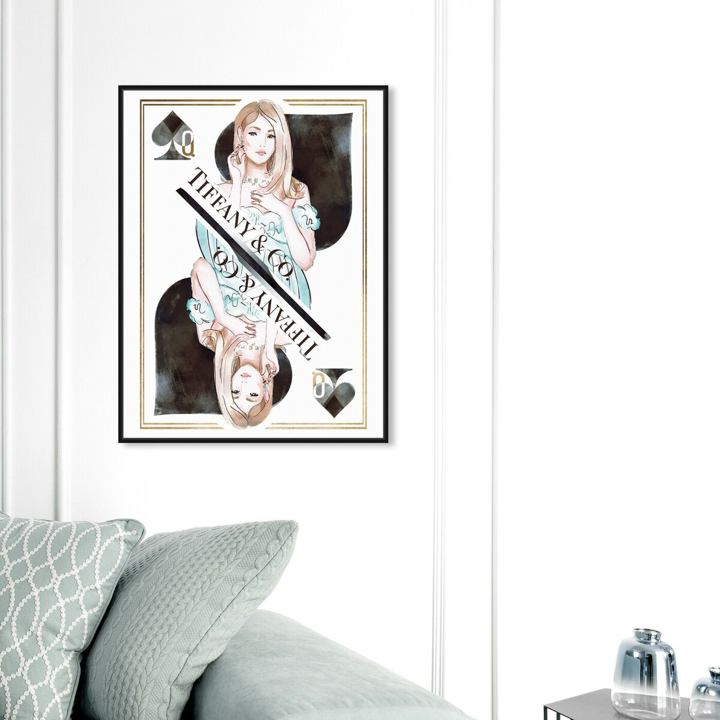 Hanging view of Queen of Spades Precious featuring fashion and glam and outfits art.