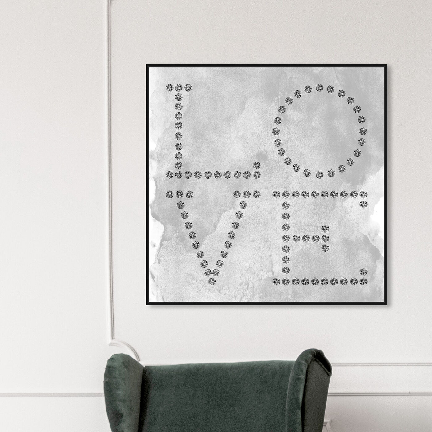Hanging view of Love Diamonds featuring typography and quotes and love quotes and sayings art.