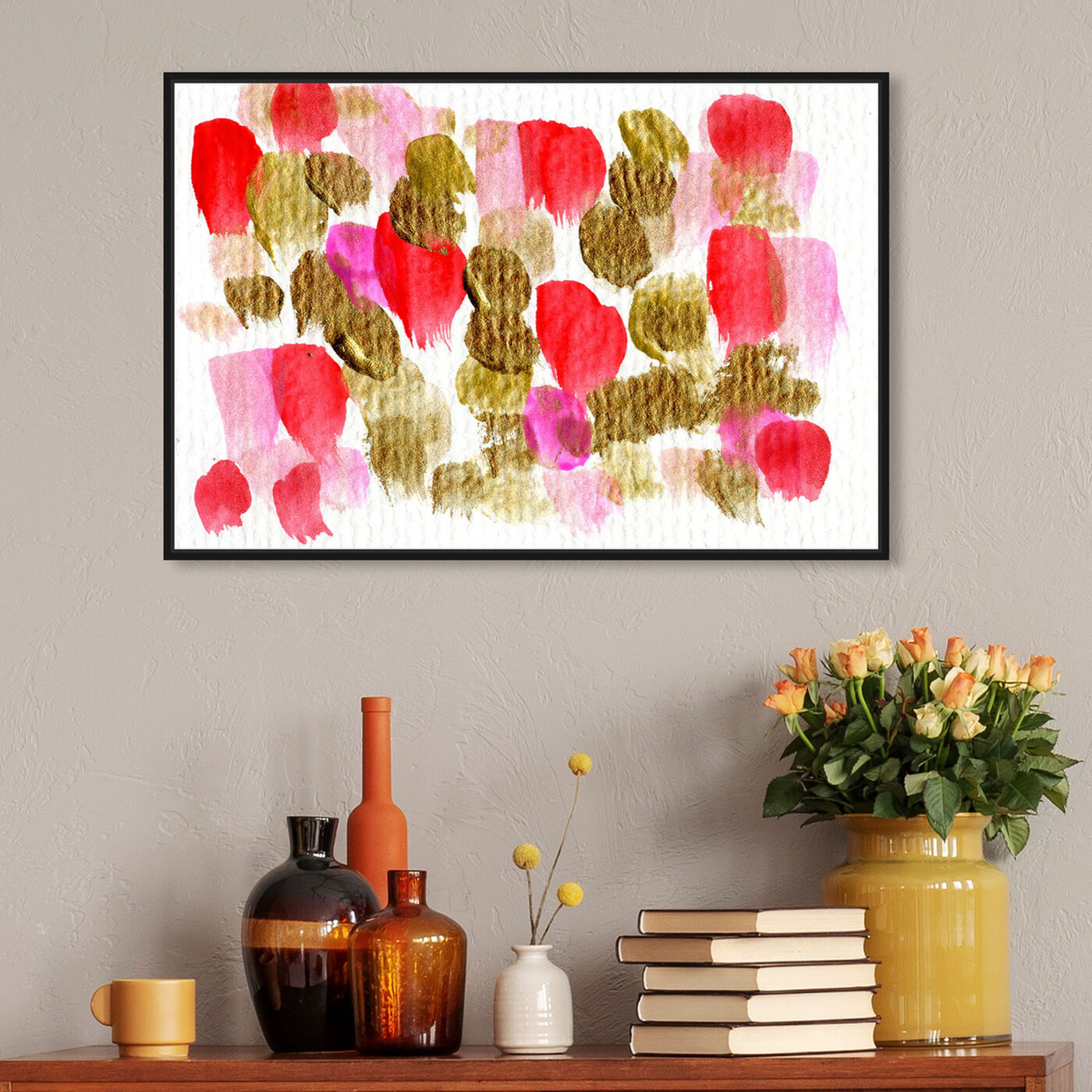 Hanging view of Could Be Love  featuring abstract and paint art.
