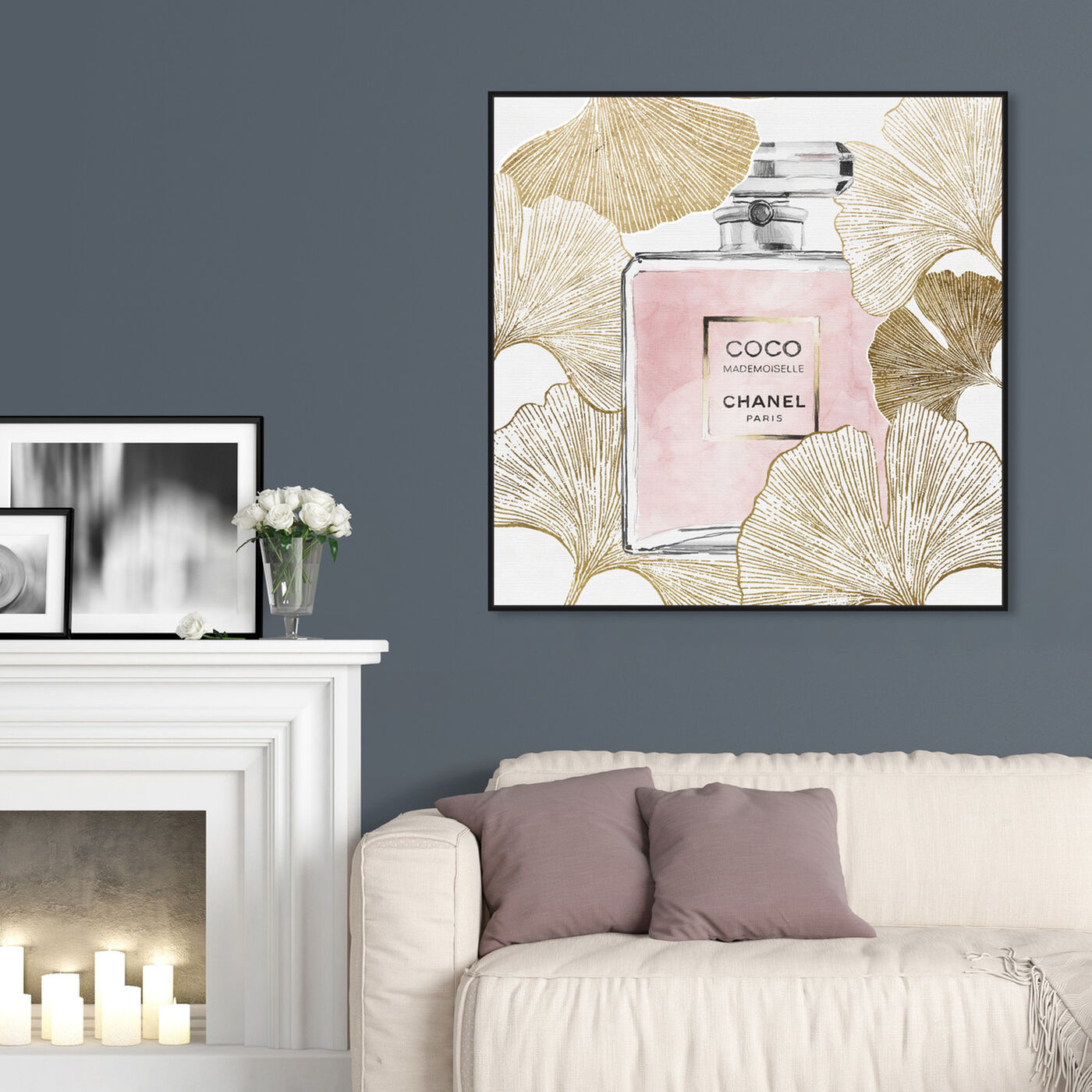 Hanging view of Gold Pink Ginkcoco featuring fashion and glam and perfumes art.