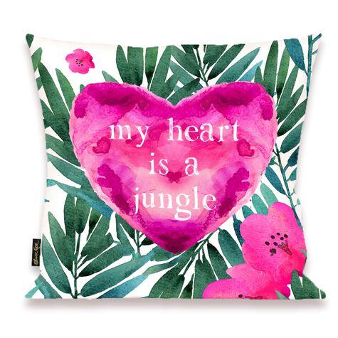 Jungle Heart Pillow