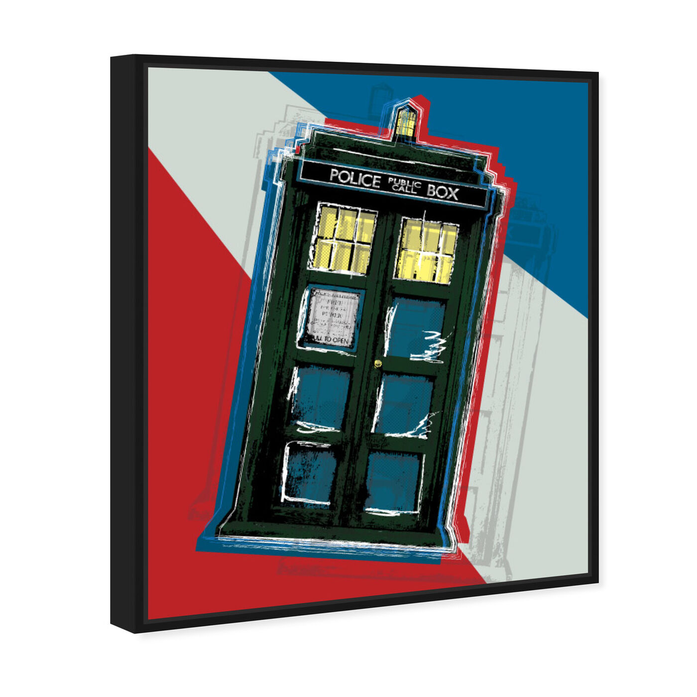 Angled view of Tardis featuring world and countries and european cultures art.