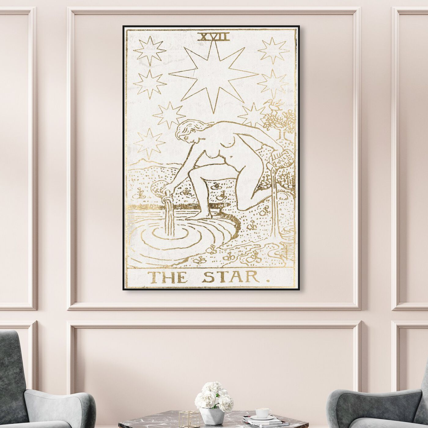 Hanging view of The Star Tarot Luxe featuring spiritual and religious and zodiac art.