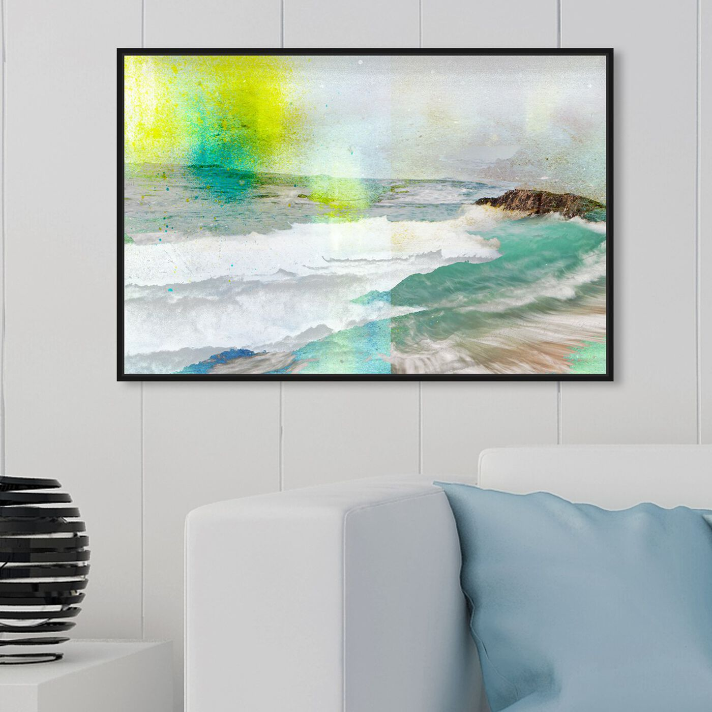 Hanging view of Sea Above featuring nautical and coastal and coastal art.