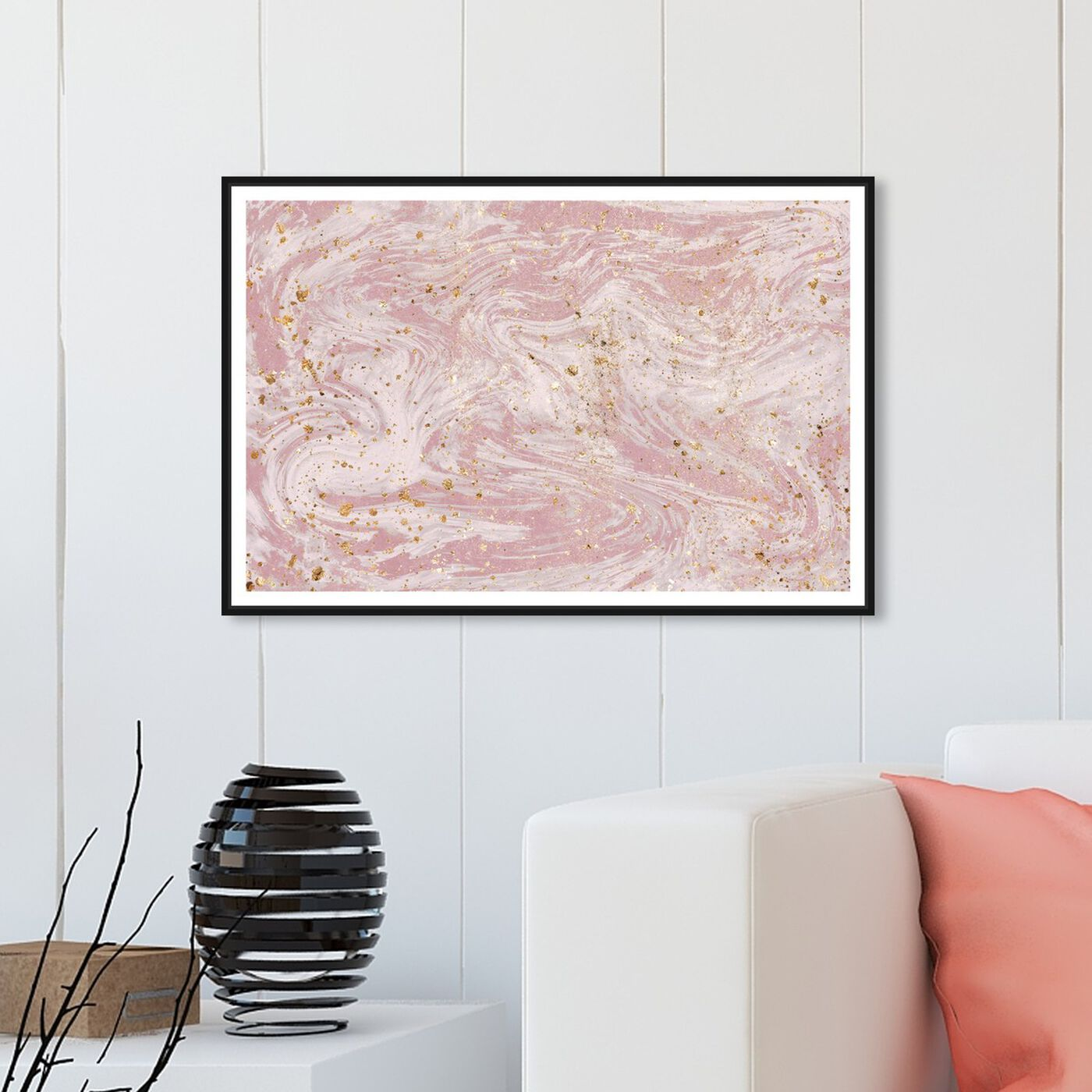 Hanging view of Dream Marble featuring abstract and textures art.
