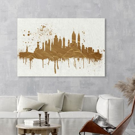 Gold NY Skyline