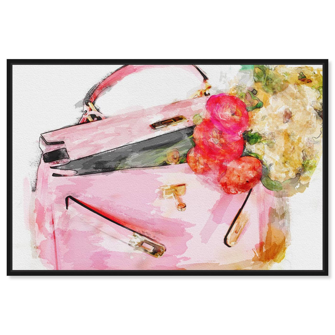 Front view of Blooming Love  featuring fashion and glam and handbags art.