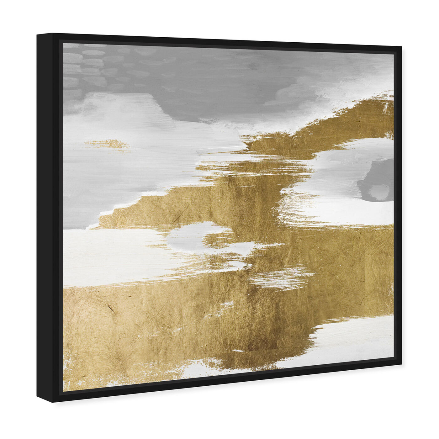 Angled view of Gold Heaven featuring abstract and paint art.