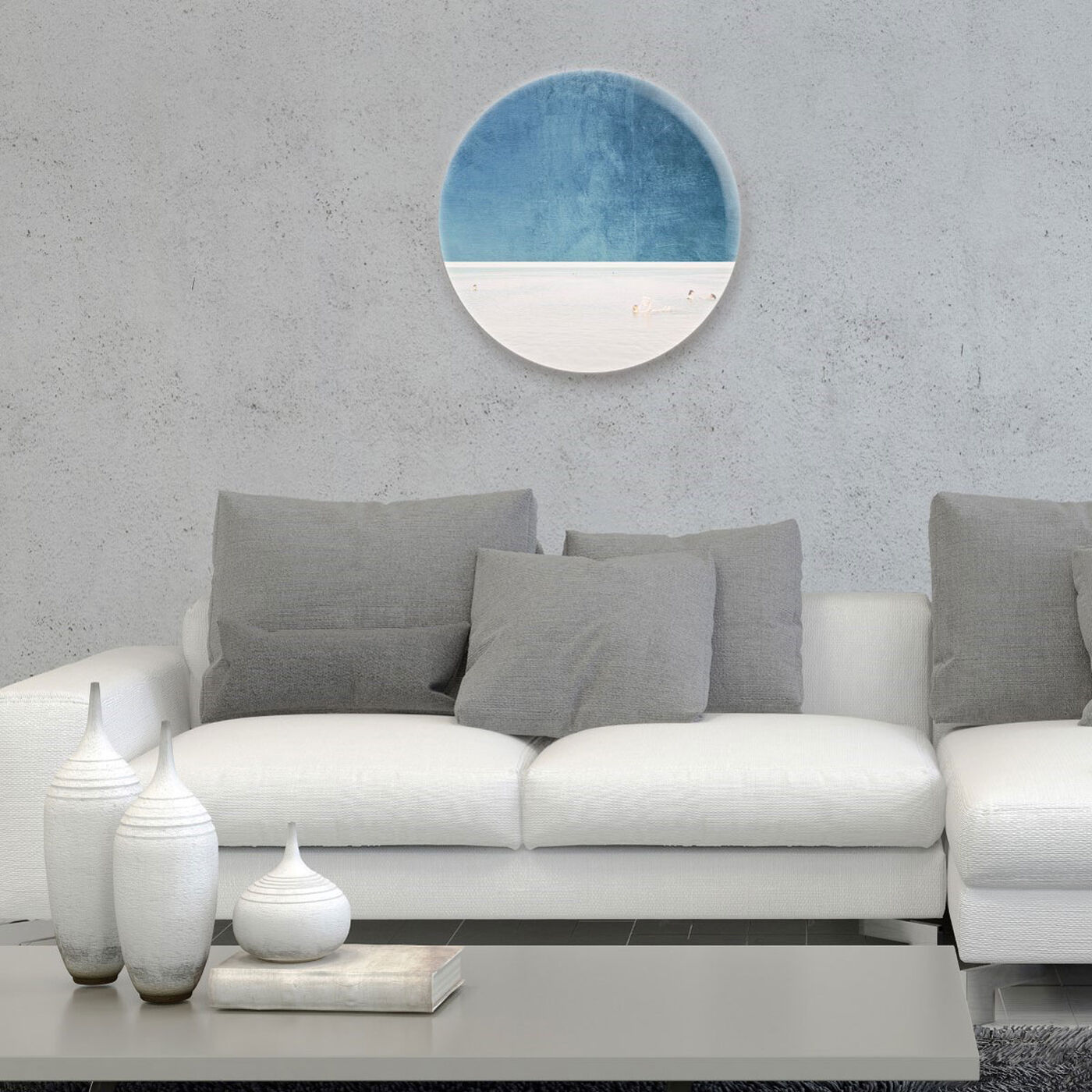 Hanging view of Under The Sky featuring nautical and coastal and coastal art.