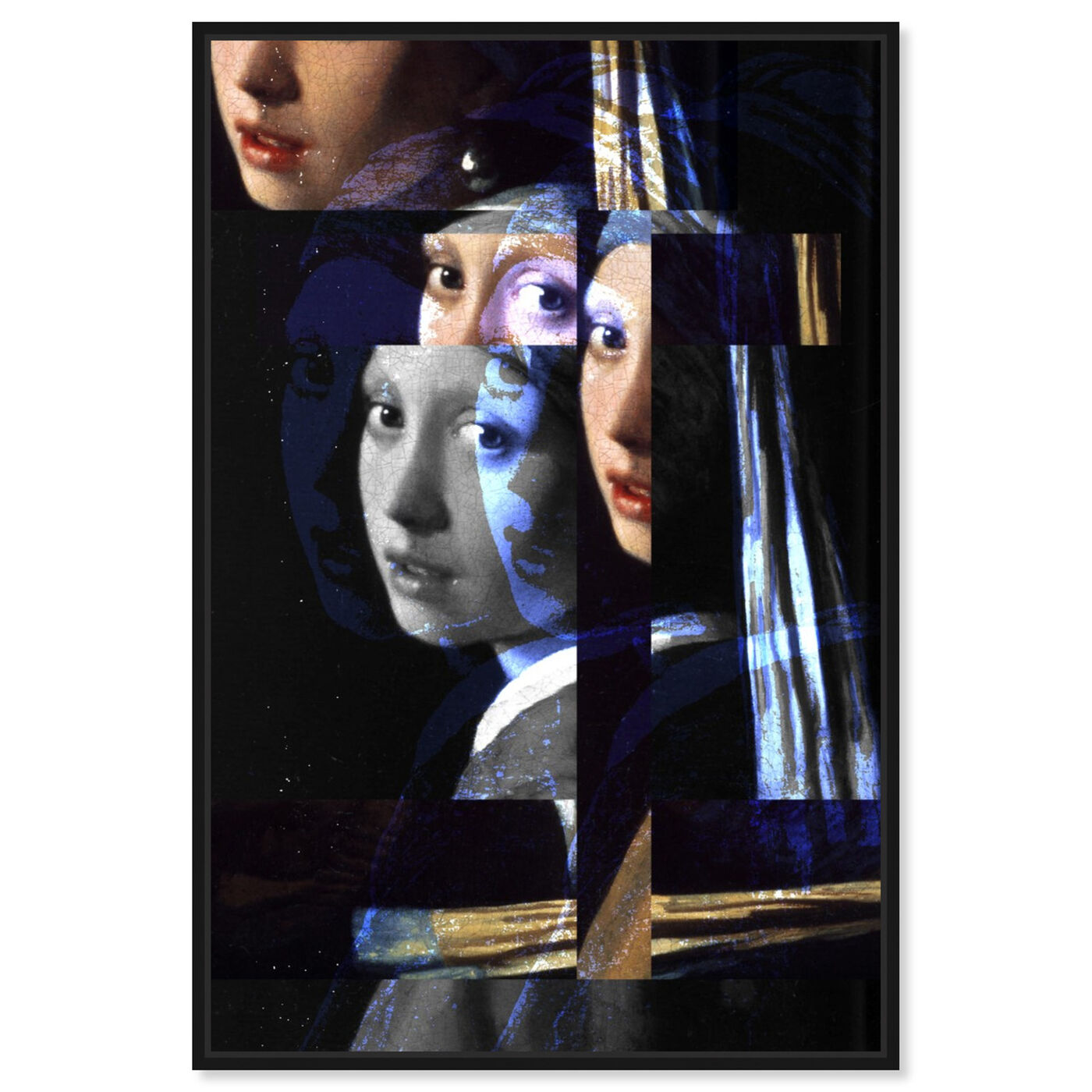 Front view of Girl With The Pearl Earring Revised featuring classic and figurative and classical figures art.