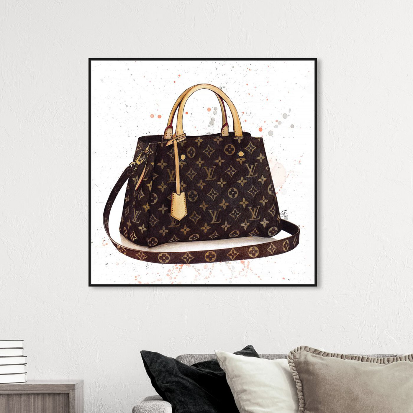 Hanging view of Doll Memories -Details Bag featuring fashion and glam and handbags art.