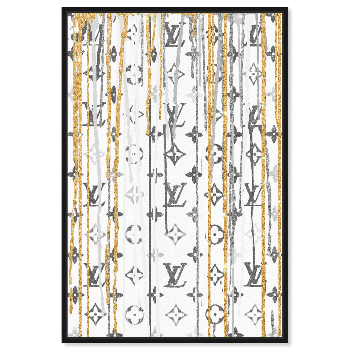 Front view of Luxury Drips Black and White featuring fashion and glam and lifestyle art.