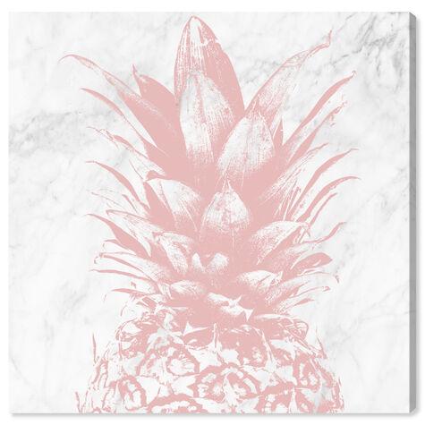 Pastel Pink Pineapple Marble
