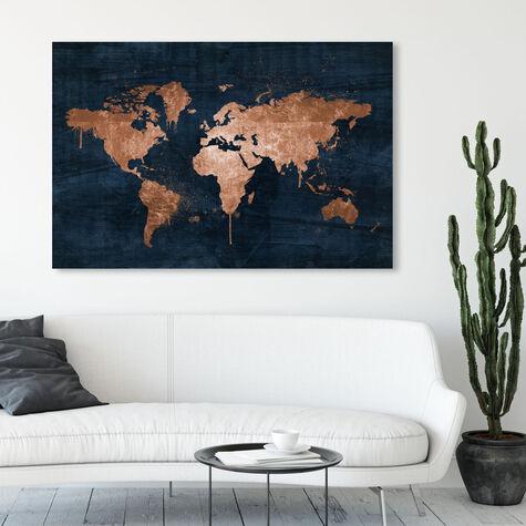 Mapamundi Copper Blue