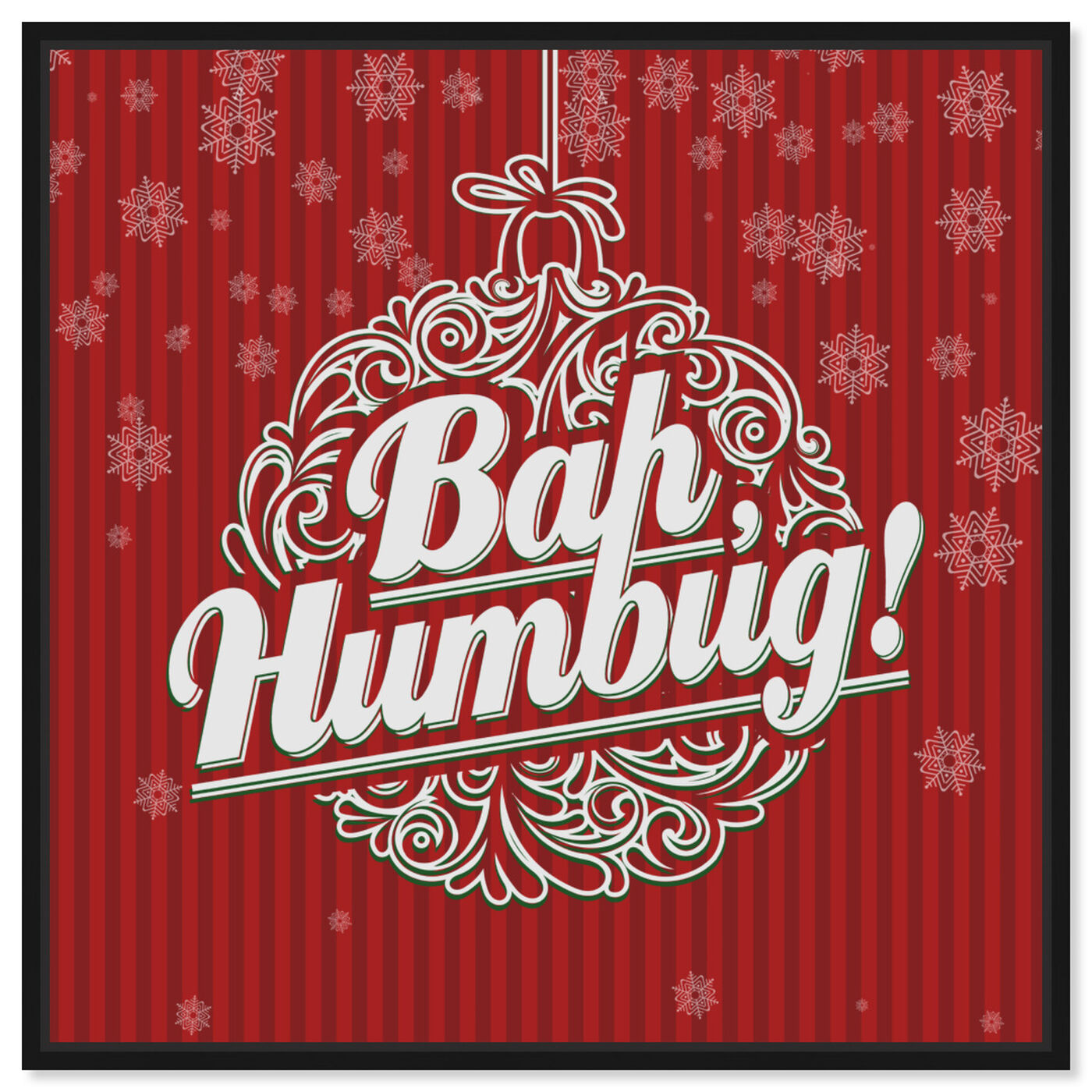 Front view of Bah Humbug featuring holiday and seasonal and holidays art.