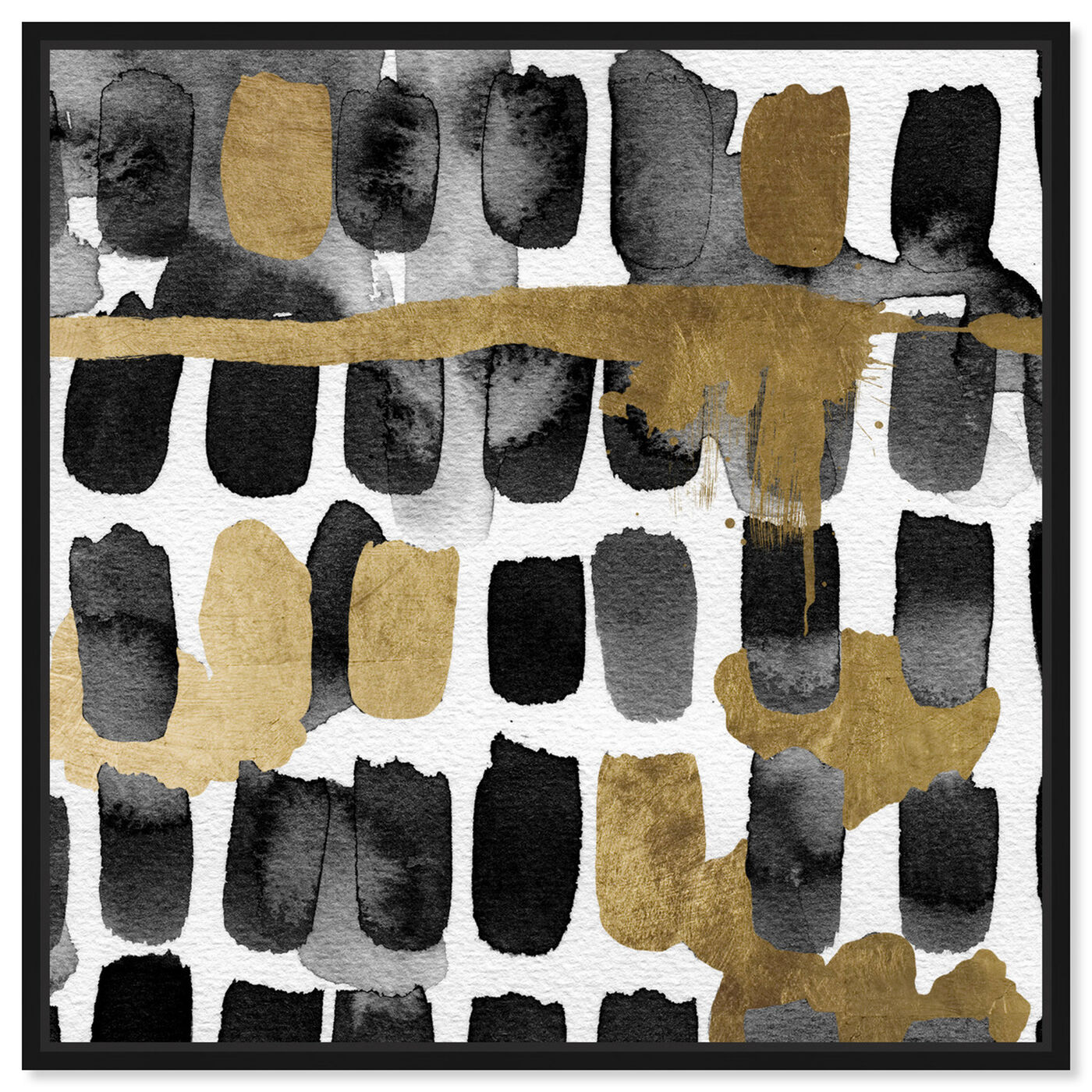 Front view of Golden Palette featuring abstract and textures art.