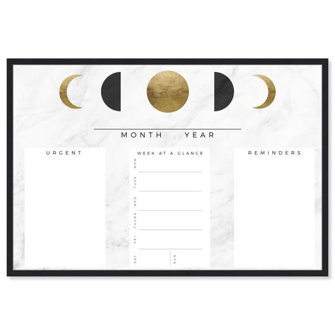 Moon Phase Reminder Marble and Gold