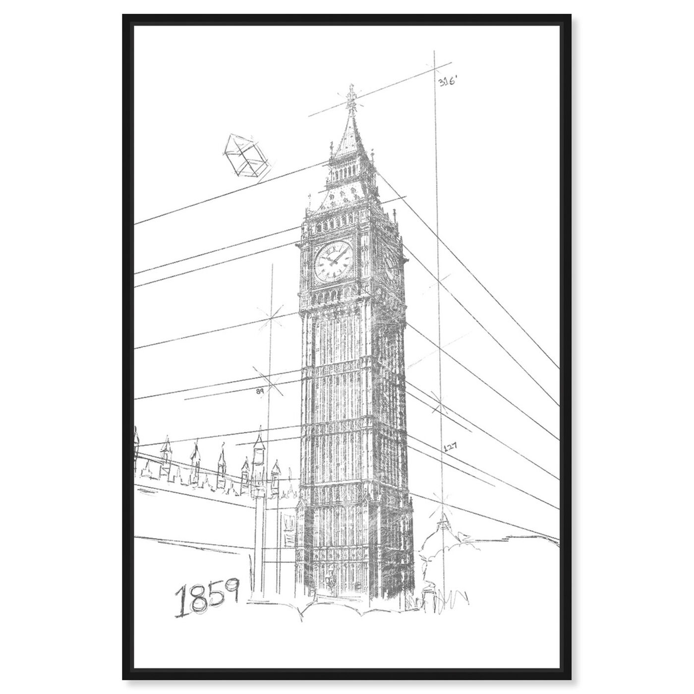 Front view of Big Ben Silver featuring architecture and buildings and european buildings art.