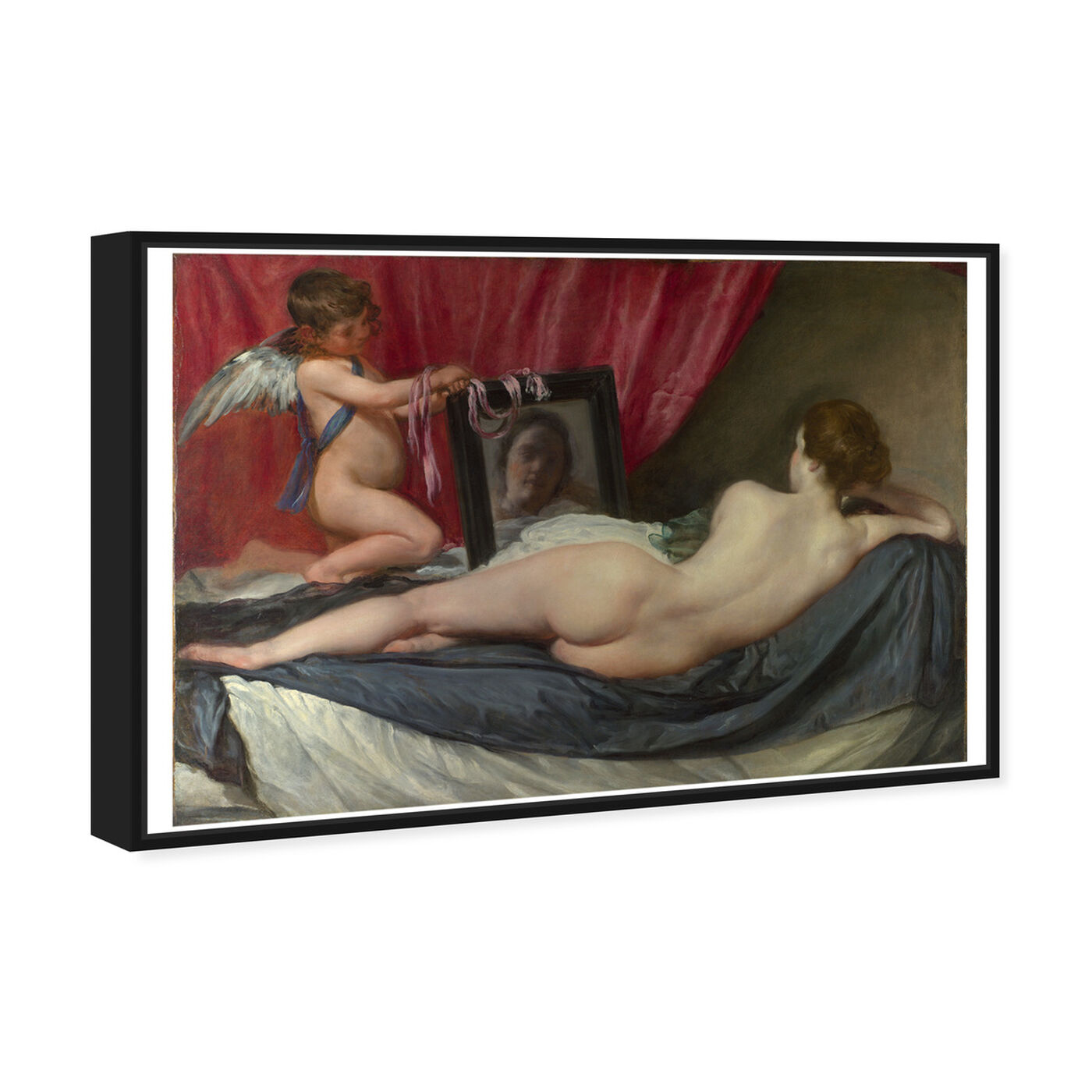 Angled view of Velazquez - Rokeby Venus featuring classic and figurative and nudes art.