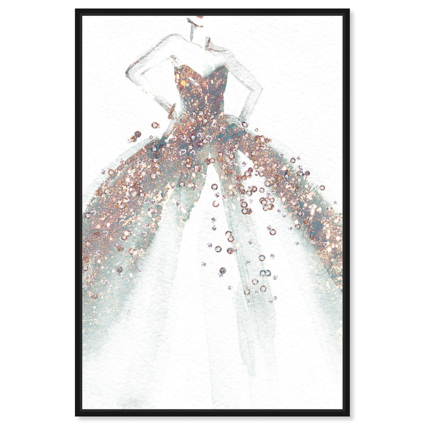Front view of Star of the Ball featuring fashion and glam and dress art.