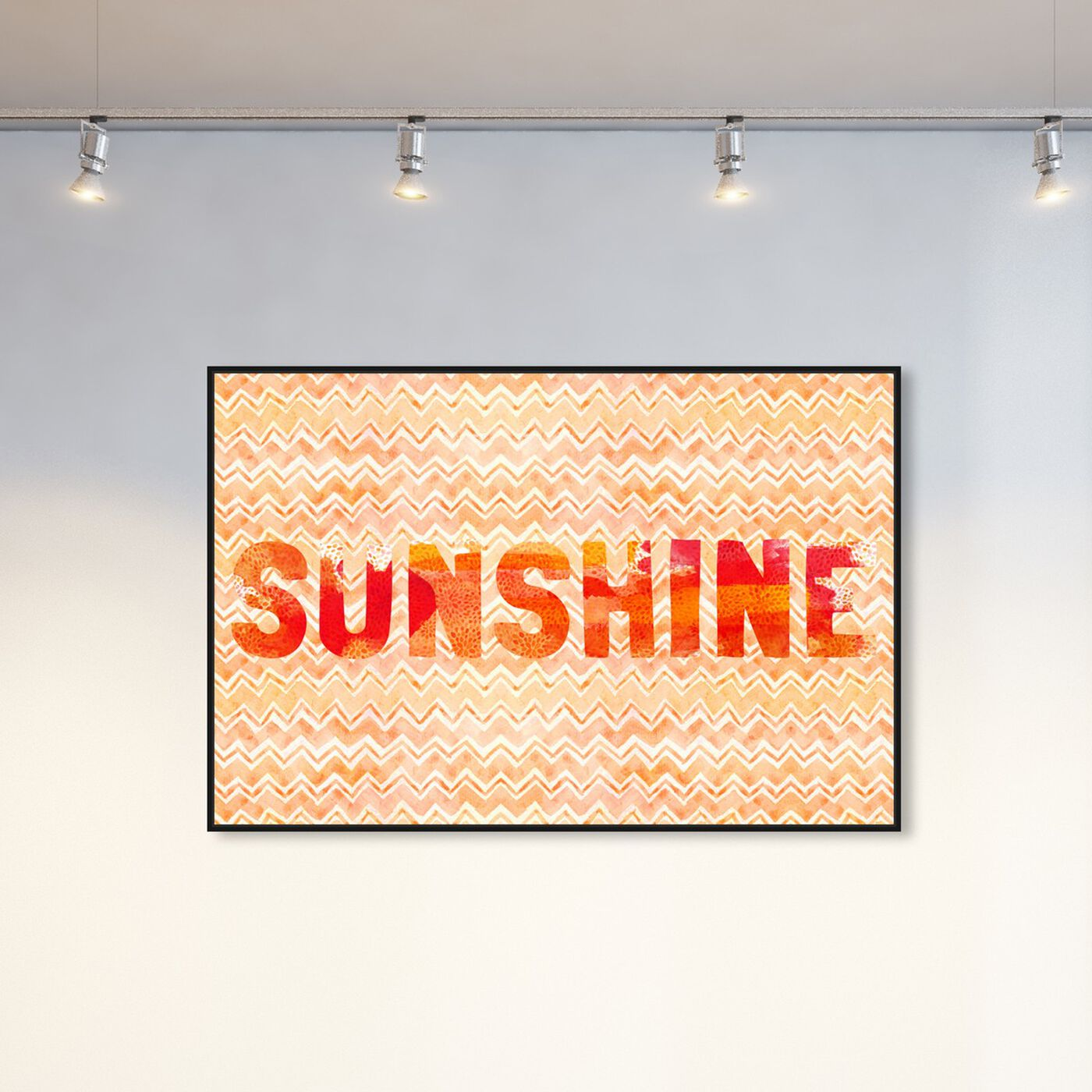 Hanging view of Sunshine featuring typography and quotes and beauty quotes and sayings art.