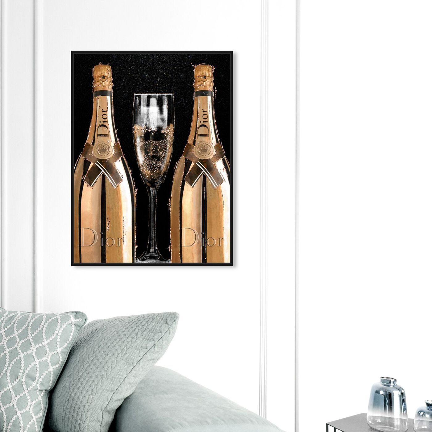 Hanging view of Champagne Time featuring fashion and glam and lifestyle art.