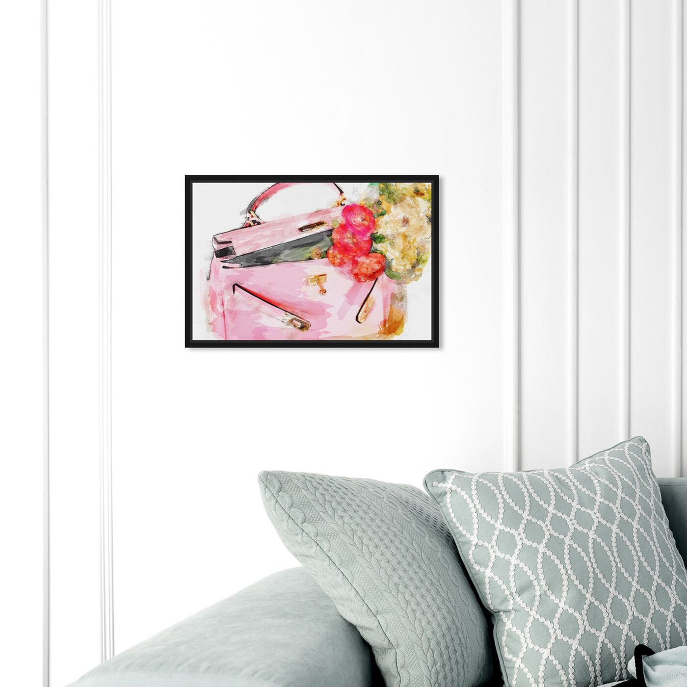 Hanging view of Blooming Love  featuring fashion and glam and handbags art.