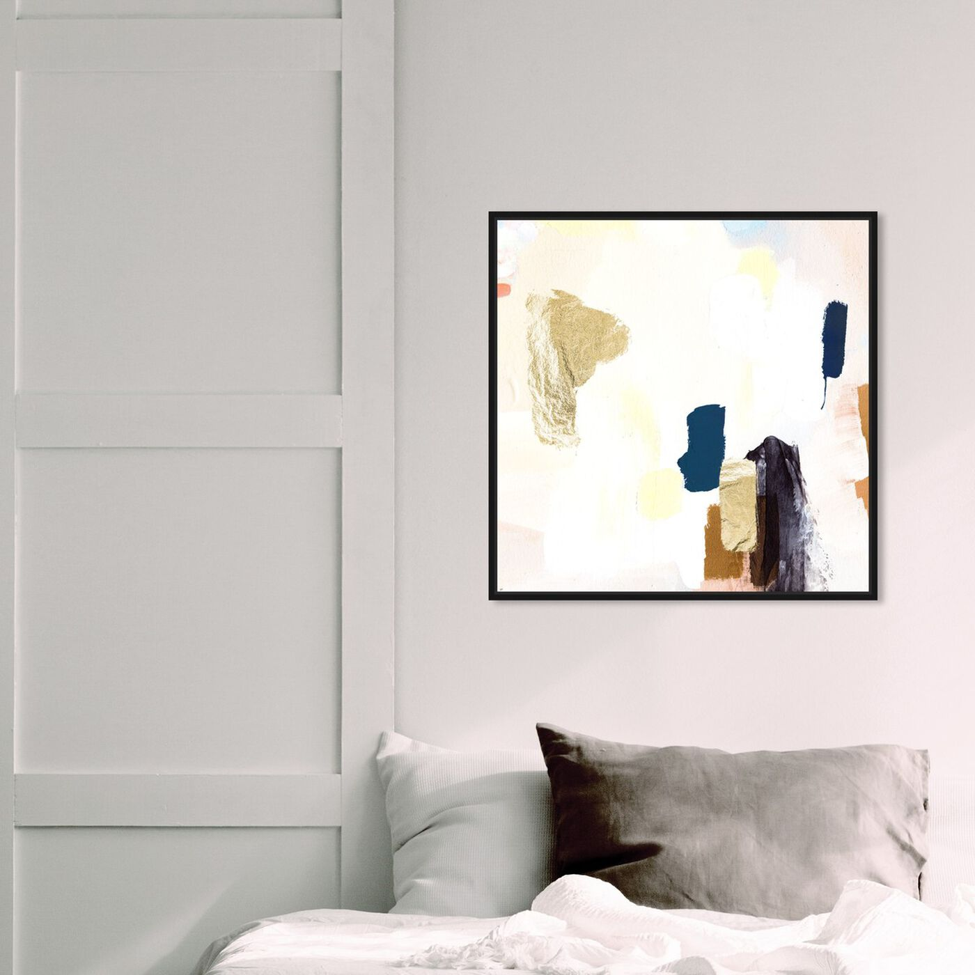 Hanging view of Azul featuring abstract and paint art.