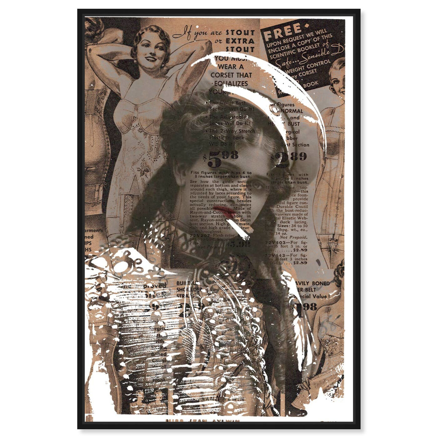 Front view of Miss Jean Aylwin featuring advertising and publications art.