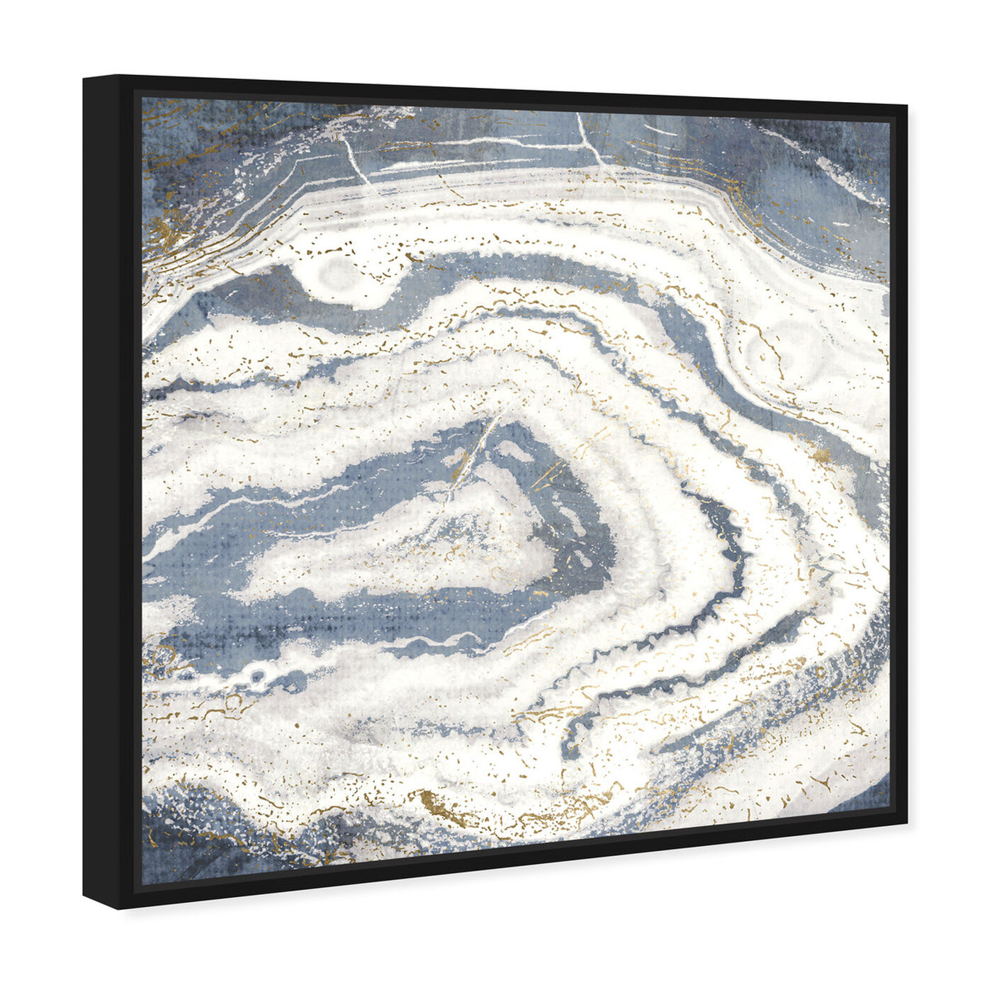 Angled view of Midnight Agate featuring abstract and crystals art.