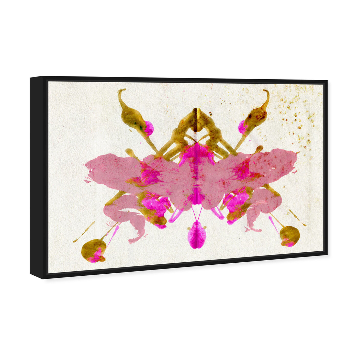 Angled view of Calypso Butterfly featuring abstract and paint art.