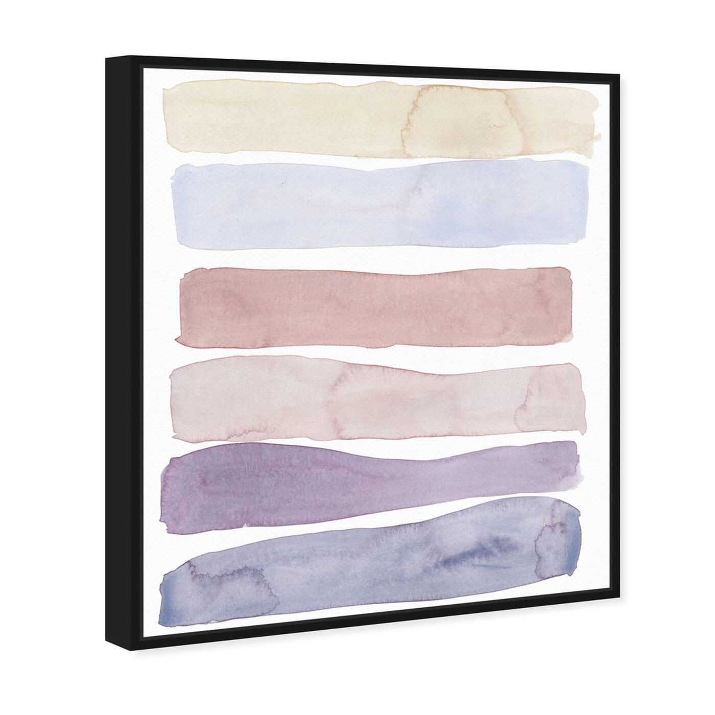 Angled view of Light Lares featuring abstract and watercolor art.