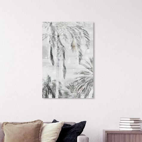 Palm Trees Neutral Sparkle