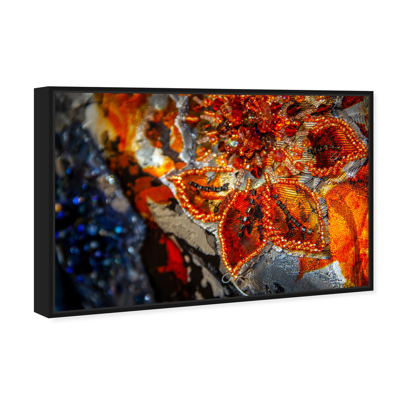 Angled view of Mark Zunino - Amber Floral Tapestry featuring fashion and glam and fashion art.