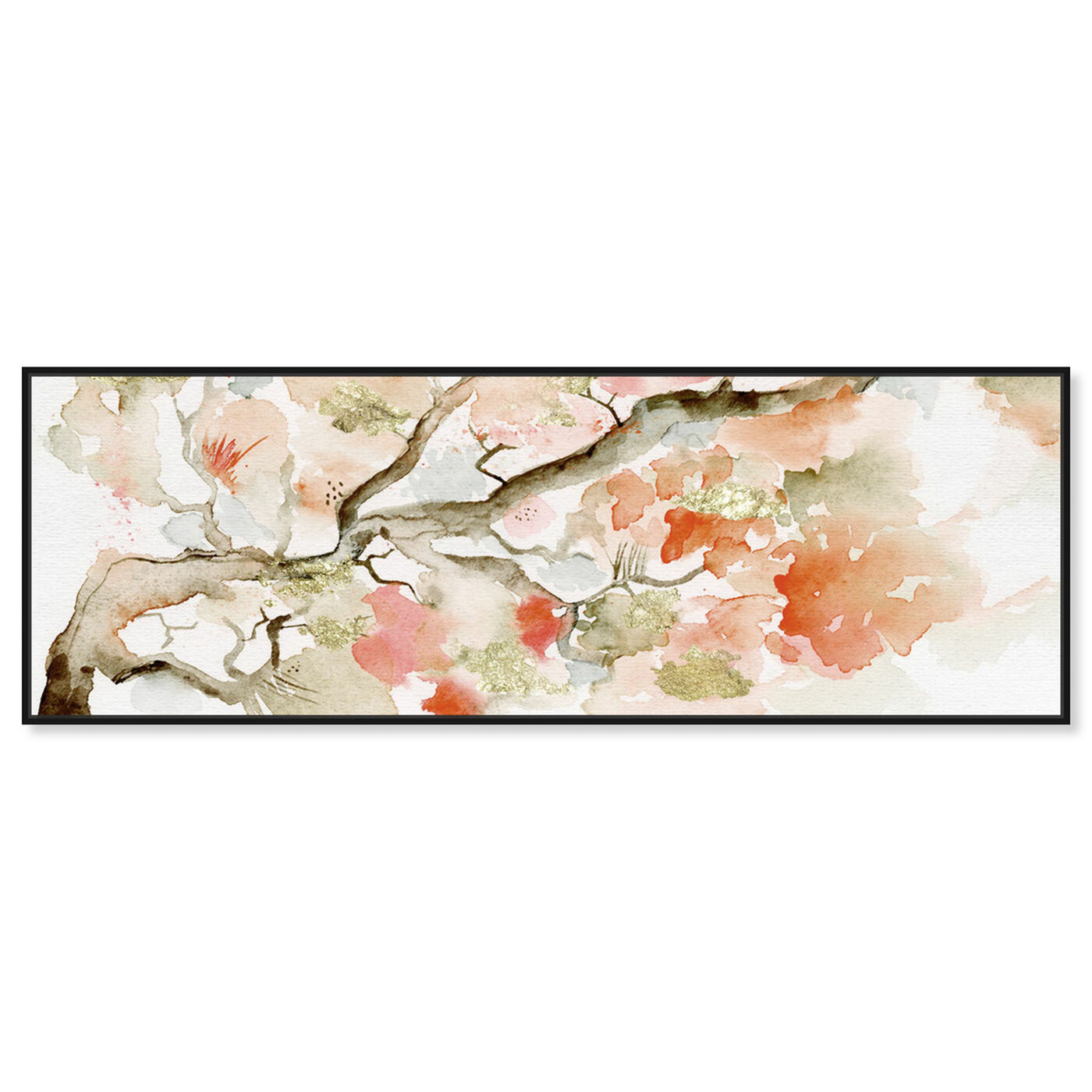 Front view of Under The Blossom Tree Sandstone featuring floral and botanical and florals art.