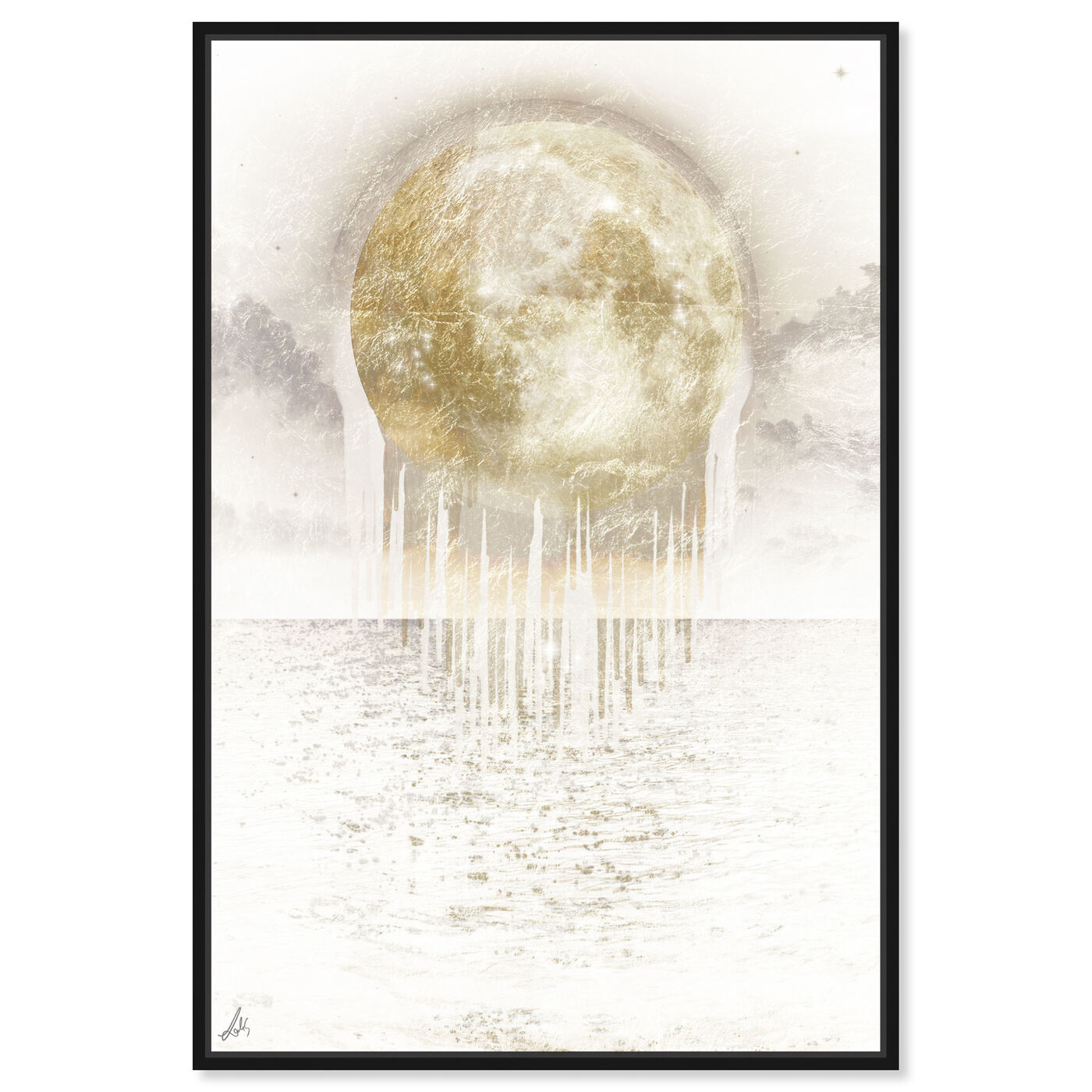 Front view of Melting Moonlight featuring astronomy and space and moons art.