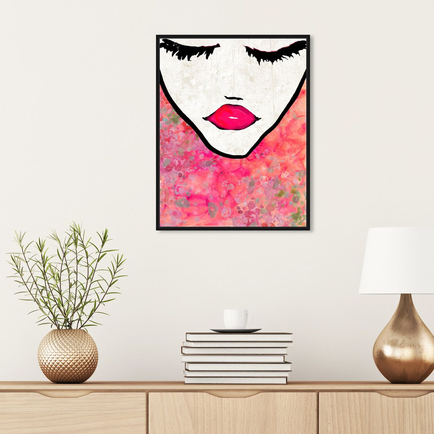 Hanging view of Flower Coveted featuring fashion and glam and portraits art.