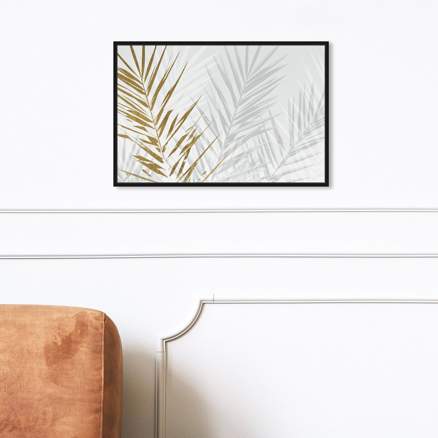 Hanging view of Eucalyptus Palm Gold featuring floral and botanical and botanicals art.